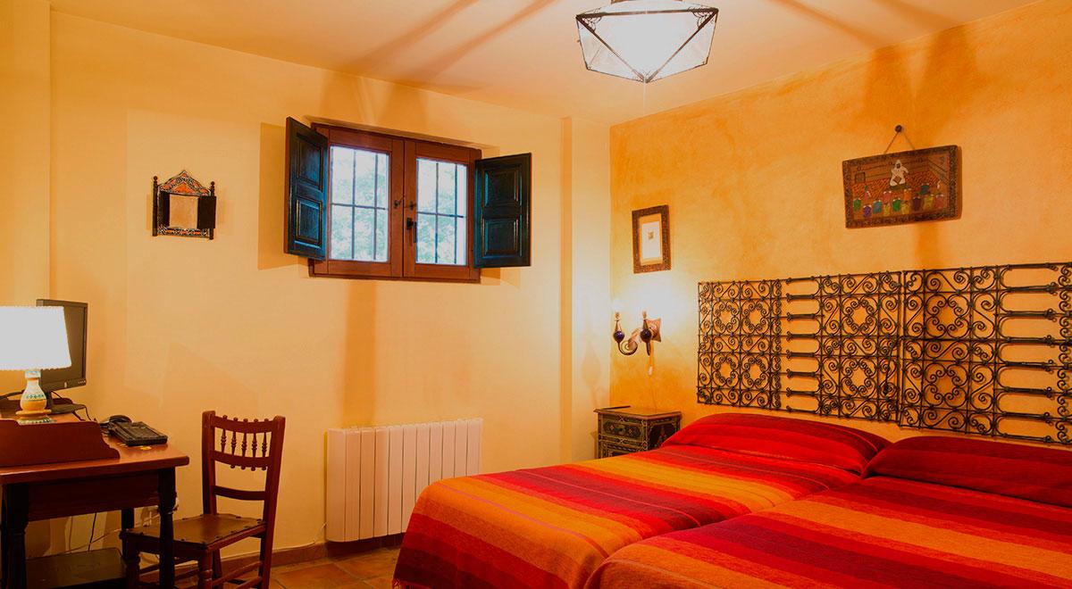 habitacion 2 camas - Casa rural El Canjilón - Montefrio