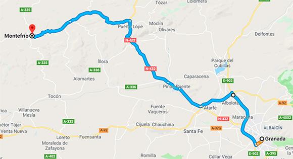 Cómo llegar a Montefrio desde Granada